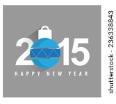 2015 happy new year and... | Shutterstock .eps vector #236338843