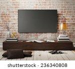 mock up tv screen with vintage... | Shutterstock . vector #236340808
