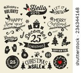 a set of vintage style... | Shutterstock .eps vector #236344168