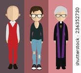 set of people icons in flat... | Shutterstock .eps vector #236352730