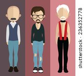 set of people icons in flat... | Shutterstock .eps vector #236352778