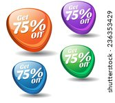 get 75 percent colorful vector... | Shutterstock .eps vector #236353429