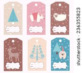 set of christmas gift tags ... | Shutterstock .eps vector #236355823