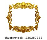 golden frame with organic... | Shutterstock . vector #236357386