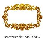 golden frame with organic... | Shutterstock . vector #236357389