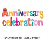anniversary celebration... | Shutterstock .eps vector #236359894