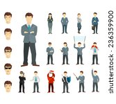 many working people in various... | Shutterstock .eps vector #236359900