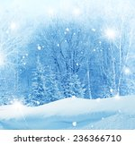 winter christmas background  | Shutterstock . vector #236366710