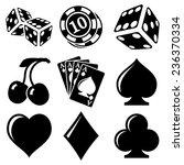 vector black casino icons set... | Shutterstock .eps vector #236370334