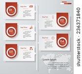 design clean number banners...   Shutterstock .eps vector #236371840
