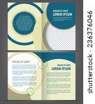 vector empty bifold brochure...   Shutterstock .eps vector #236376046
