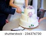 Bride And Groom At Wedding...