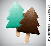 two christmas tree shaped... | Shutterstock .eps vector #236380894