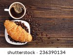 Coffee Cup With Croissant For...