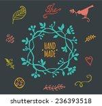 vector elements. handmade... | Shutterstock .eps vector #236393518