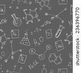 chemistry doodles seamless... | Shutterstock .eps vector #236396770