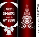 christmas card with a christmas ... | Shutterstock .eps vector #236397004