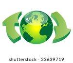 recycling earth   vector... | Shutterstock .eps vector #23639719