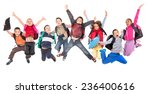 group of school children... | Shutterstock . vector #236400616