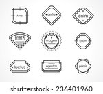 retro hipster badges and labels | Shutterstock . vector #236401960