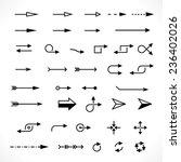 set of technology arrows | Shutterstock . vector #236402026