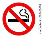 no smoking sign. smoking... | Shutterstock .eps vector #236403739