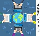 teamwork. concept of global...   Shutterstock . vector #236404954