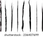 set of grunge brush strokes | Shutterstock .eps vector #236407699
