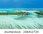 tropical island on bora bora...   Shutterstock . vector #236412724