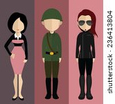 set of people icons in flat... | Shutterstock .eps vector #236413804