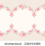 Seamless Garlands Of Roses On A ...