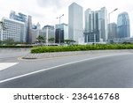 modern cityscape and road of... | Shutterstock . vector #236416768