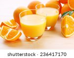 freshly squeezed orange juice ... | Shutterstock . vector #236417170