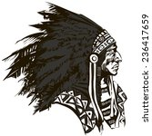 north american indian chief  ... | Shutterstock .eps vector #236417659