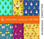 six seamless pattern with... | Shutterstock .eps vector #236427544