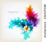 fantasy watercolor vector... | Shutterstock .eps vector #236429188