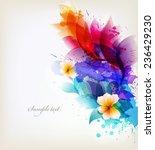 fantasy watercolor vector... | Shutterstock .eps vector #236429230