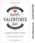 happy valentines day party... | Shutterstock .eps vector #236430058