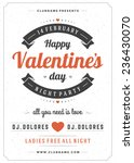 happy valentines day party... | Shutterstock .eps vector #236430070
