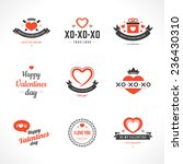 happy valentine's day greetings ... | Shutterstock .eps vector #236430310