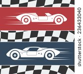 two fast moving vintage race... | Shutterstock . vector #236433040