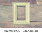 photo frame on wooden... | Shutterstock . vector #236433313