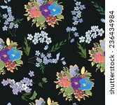 seamless pattern with floral... | Shutterstock .eps vector #236434984