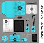 stationery set design geometric ... | Shutterstock .eps vector #236435584