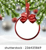paper bauble. winter background ... | Shutterstock .eps vector #236435869