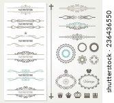 vintage frames  dividers ... | Shutterstock .eps vector #236436550