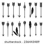 bow arrow set. vector | Shutterstock .eps vector #236443489