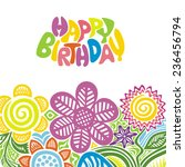 happy birthday greeting card... | Shutterstock .eps vector #236456794