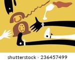 vector. a telephone  a girl  a...   Shutterstock .eps vector #236457499