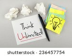 think unlimited   motivational... | Shutterstock . vector #236457754